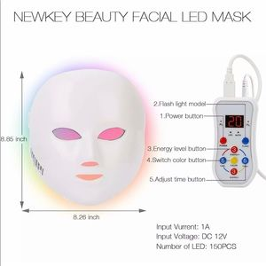 Newkey LED skin care beauty face mask, 7 colors